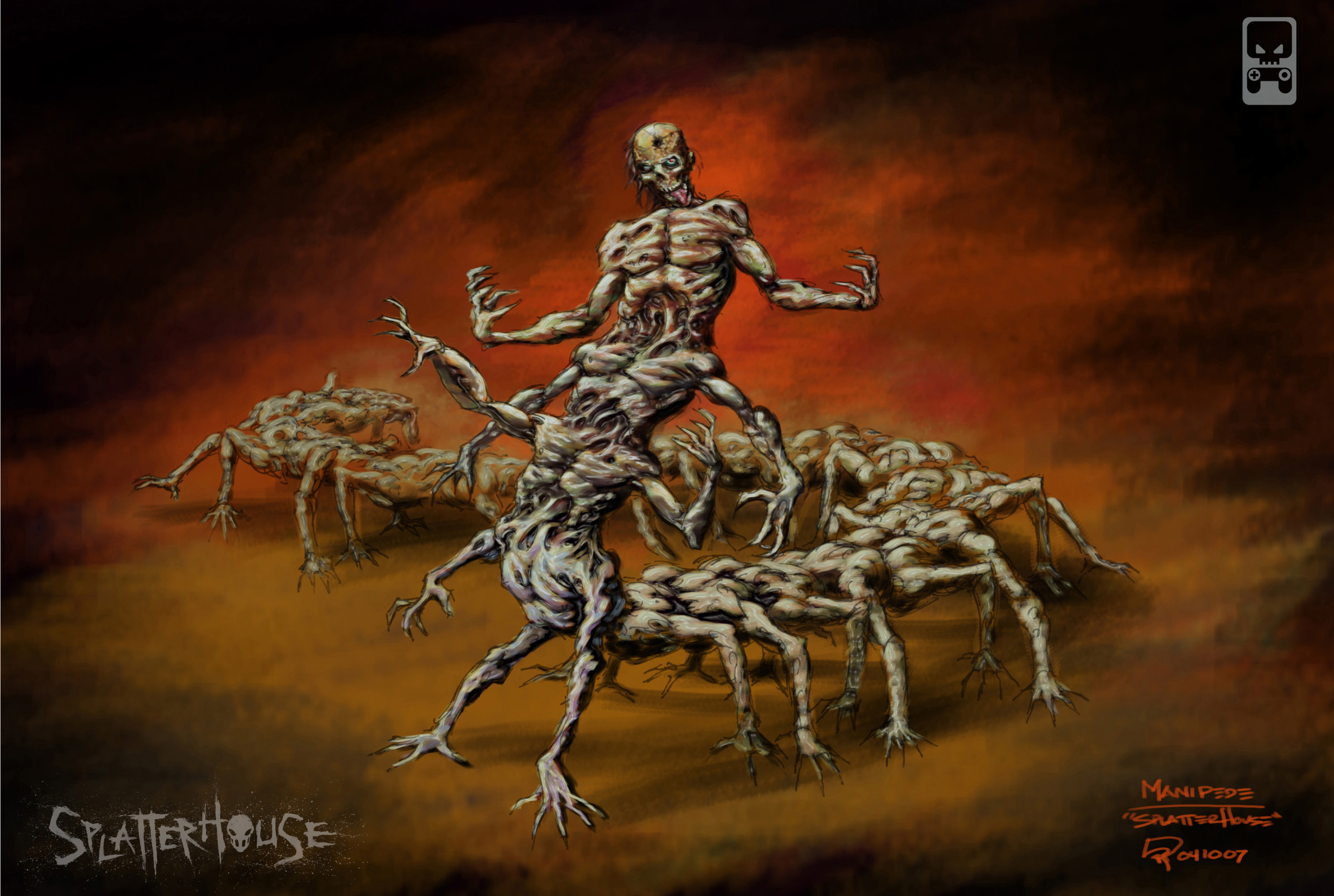 West mansion the splatterhouse homepage artwork manipede pooptronica